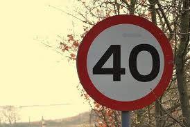 40 sign